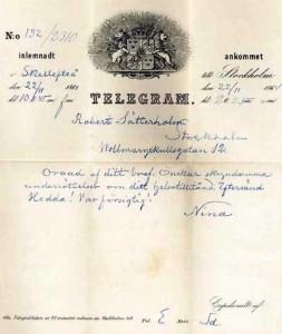 skicka telegram vid begravning